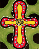 CROSS WITH GREEN