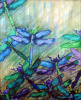 """Blue and Green Dragonflies"" by Carrie Chavers"