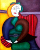 Picasso's Girl in a Red Chair