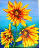 """Wild Sunflowers"" by Carrie Chavers"